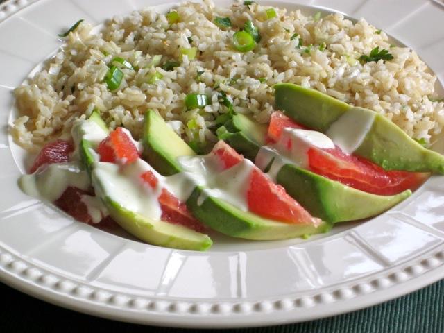Brown Rice Avocado and Grapefruit Salad myfavouritepastime.com_4756b