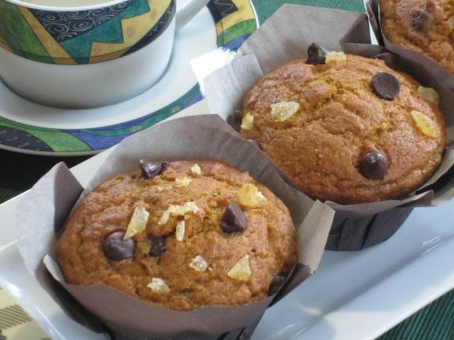 Chocolate Ginger Pumpkin Muffins myfavouritepastime.com_3405