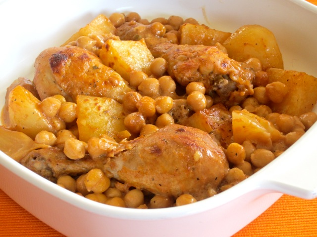 Roasted Chicken with Potatoes and Chickpeas myfavouritepastime.com_3530