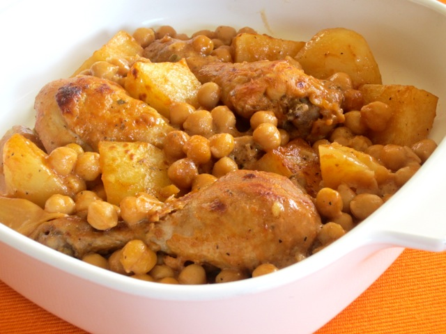Roasted Chicken with Potatoes and Chickpeas myfavouritepastime.com_3531