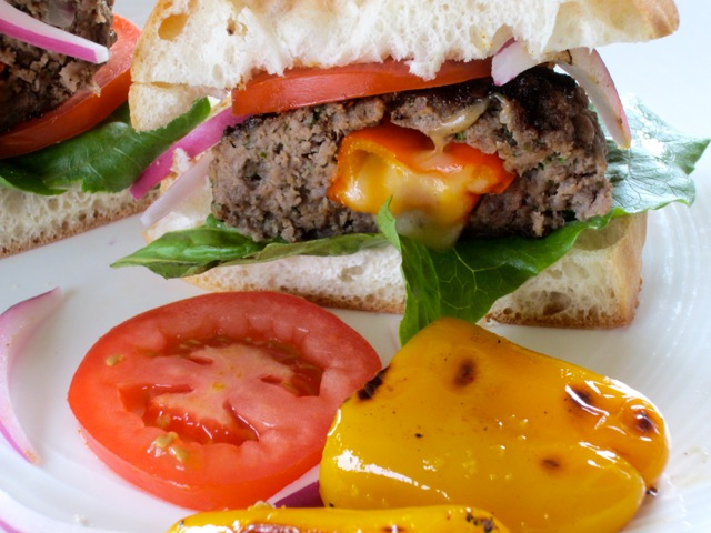 Cheese and Pepper Stuffed Burgers myfavouritepastime.com_2780