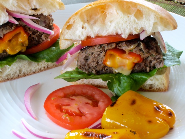Cheese and Pepper Stuffed Burgers myfavouritepastime.com_2781