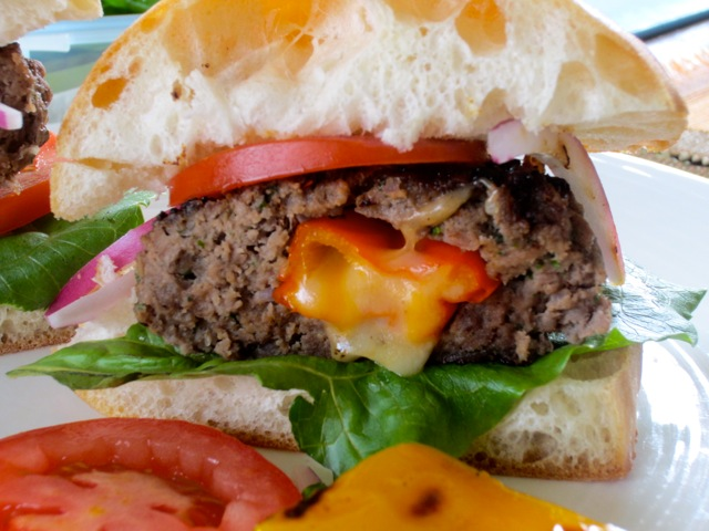 Cheese and Pepper Stuffed Burgers myfavouritepastime.com_2784