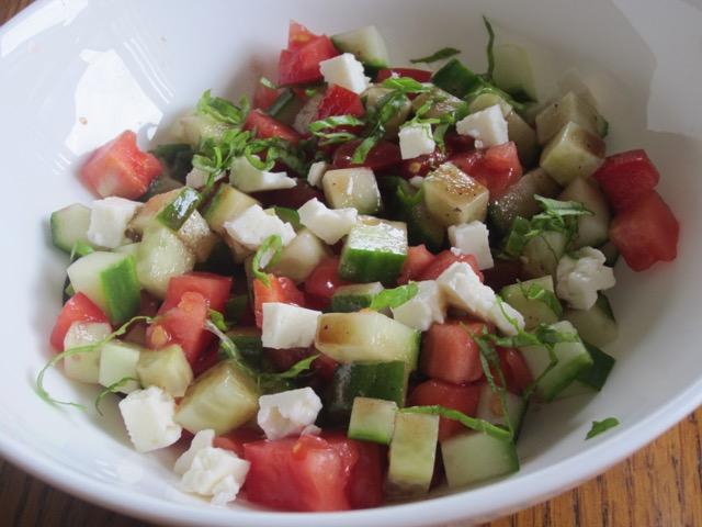 Cucumber and Tomato Salad myfavouritepastime.com