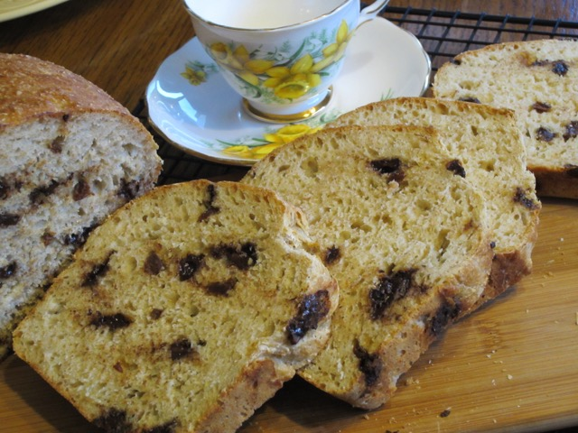 Quick Bread with Chocolate Chips and Raisins myfavouritepastime.com