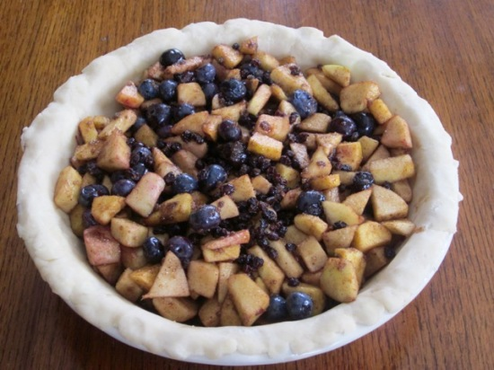 Apple Blueberry and Currant Piemyfavouritepastime.com