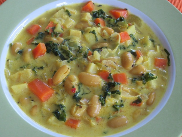 Mixed Vegetable Soup with Cannellini Beans myfavouritepastime.com