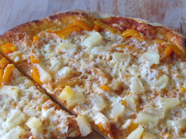 Pineapple, Capsicum and Cheese Pizza myfavouritepastime.com