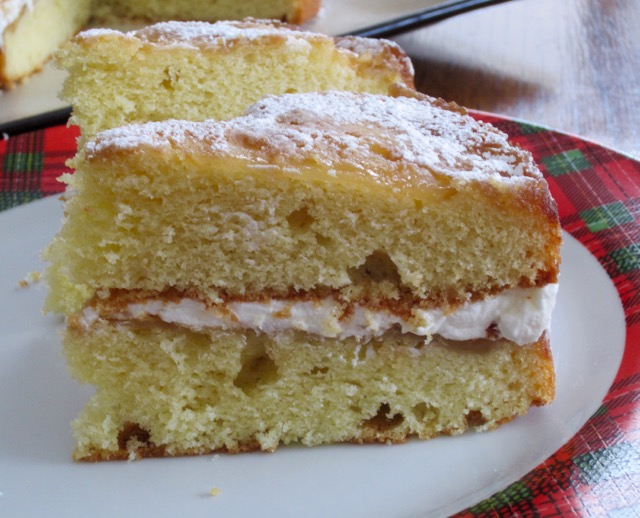 Apple Cake With Cream Filling myfavouritepastime.com