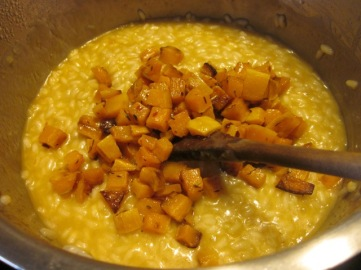 add the roasted butternut cubes myfavouritepastime.com