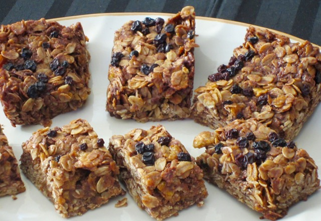 Chocolate Honey and Oat Bars myfavouritepastime.com