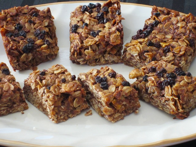 Chocolate Honey Oat Bars myfavouritepastime.com