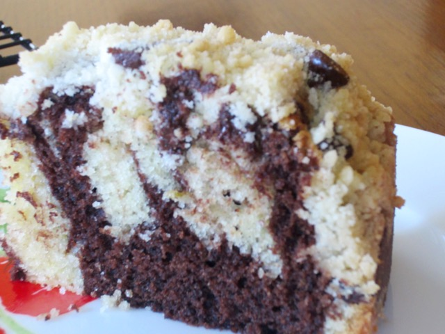 Marbled Chocolate and Lime Crumble Cake myfavouritepastime.com