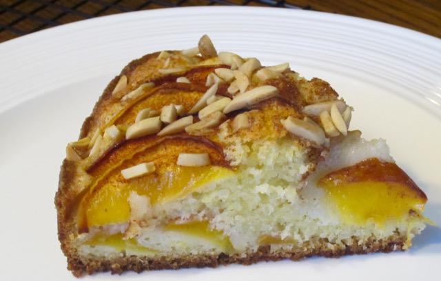 Peach and Almond Cake myfavouritepastime.com