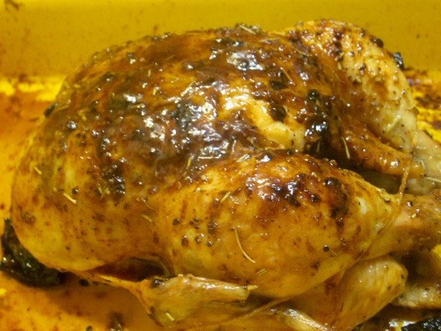 Roast Chicken with Lemon and Rosemary myfavouritepastime.com