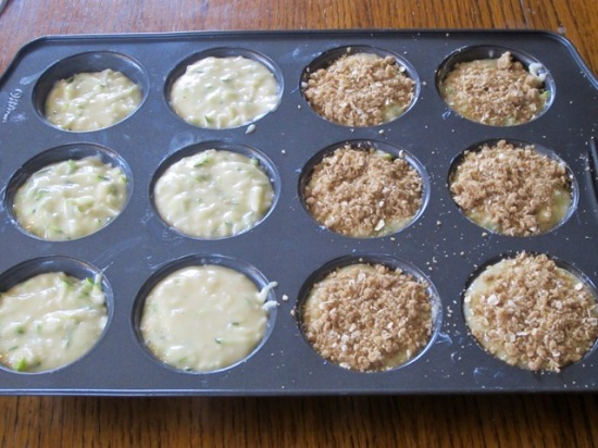 Zucchini Coconut Muffins with Streusel Topping myfavouritepastime.com