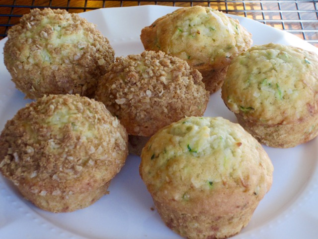 Zucchini Coconut Muffins with Streusel Topping myfavvouritepastime.com