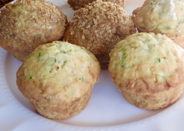 Zucchini Coconut Muffins with Streusel Topping