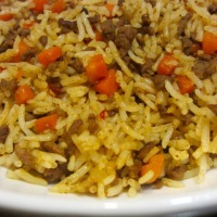 Basmati Rice with Ground Beef and Carrots