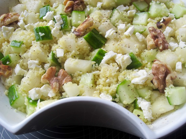Cucumber Pear and Couscous Salad myfavouritepastime.com