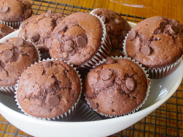 Double chocolate chip muffins recipe uk