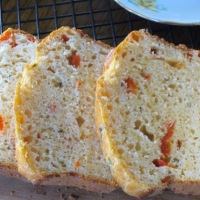 Roasted Capsicum Rosemary and Cheese Bread