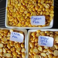 What is the difference between Split Yellow Pea, Split Chickpea and Split Pigeon Pea?