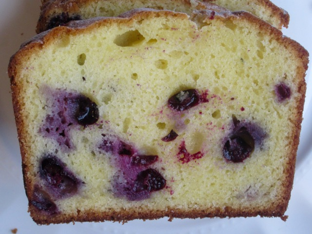 Lemon Blueberry Swirl Pound Cake