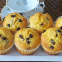 Carrot Orange and Currant Muffins
