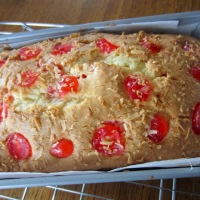 Easy Cherry and Coconut Loaf