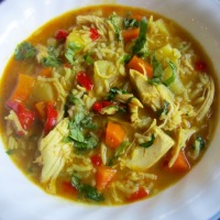 Chicken Ginger Soup with Vegetables