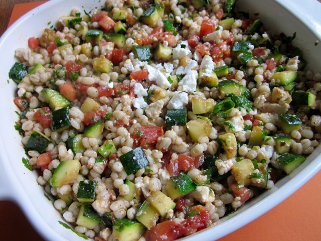 Pearl Barley and Grilled Zucchini Salad myfavouritepastime.com