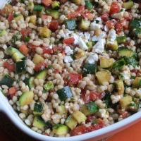 Pearl Barley and Grilled Zucchini Salad