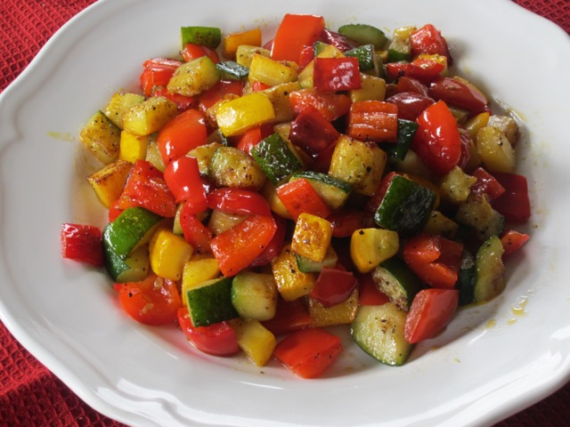 Sautéed Zucchini and Bell Pepper myfavouritepastime.com