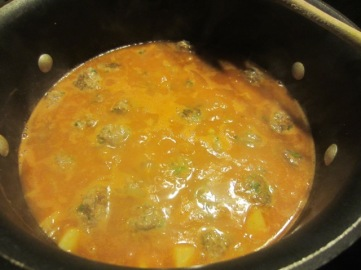 Navy Bean Stew with Meatballs myfavouritepastime.com