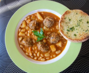 White Navy Bean Stew with Meatballs myfavouritepastime.com