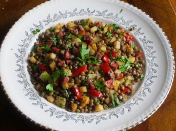 Chorizo-Flavoured Lentil and Potato Salad myfavouritepastime.com