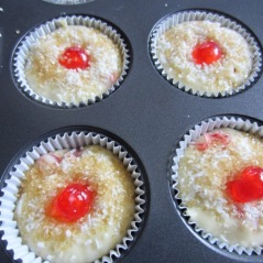 Easy Cherry and Coconut Muffins myfavouritepastime.com