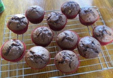 Chocolate Banana Muffins myfavouritepastime.com