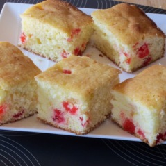 Cherry Madeira Cake Slices myfavouritepastime.com