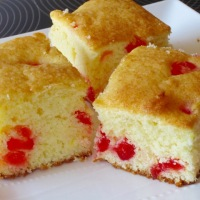 Cherry Madeira Cake Slices
