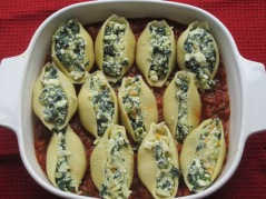 Ricotta Stuffed Shells with Bolognese Sauce myfavouritepastime.com