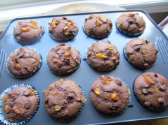 Ginger Apricot Chocolate Chip Muffins myfavouritepastime.com
