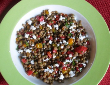 Marinated Lentil and Pepper Salad myfavouritepastime.com
