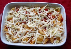 Pasta with Roasted Pepper and Cheese myfavouritepastime.com