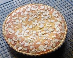 Frangipane Tart with Jam and Almond filling myfavouritepastime.com