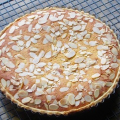 Frangipane Tart with Jam and Almond filling myfavouritepastime.com