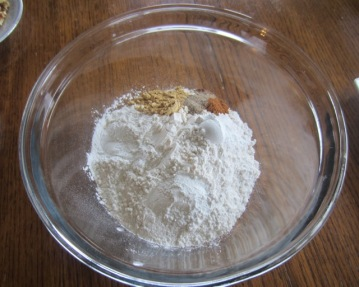 Sift the flour, baking powder, spices and salt myfavouritepastime.com