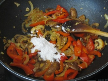 Spicy Braised Chicken with Mushroom and Bell Pepper myfavouritepastime.com
