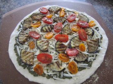 Grilled Eggplant Parmesan and Tomato Pizza myfavouritepastime.com